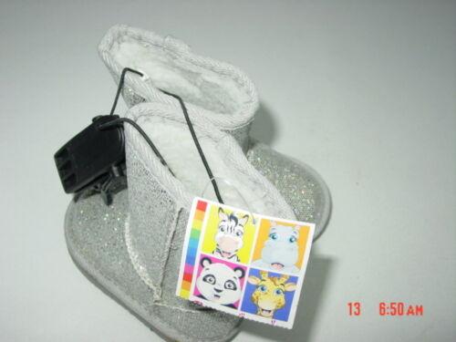 NWT Infant Toddler Girls Fashion Boots Fancy Foot wear Faux Fur Glitter Sparkle
