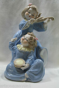 Ret-Victorian-Girls-Playing-Violin-and-Drum-Porcelain-70313-Brand-New-in-Box