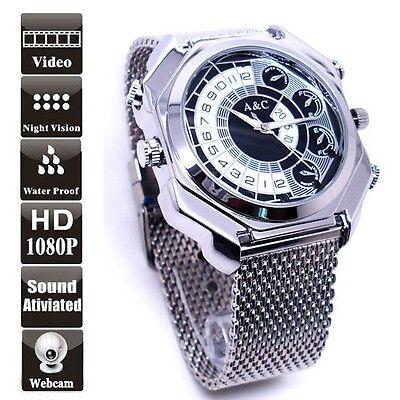 12MP HD 1080P Waterproof Spy Watch Camera Voice Activated DVR Mini DV 16GB W9