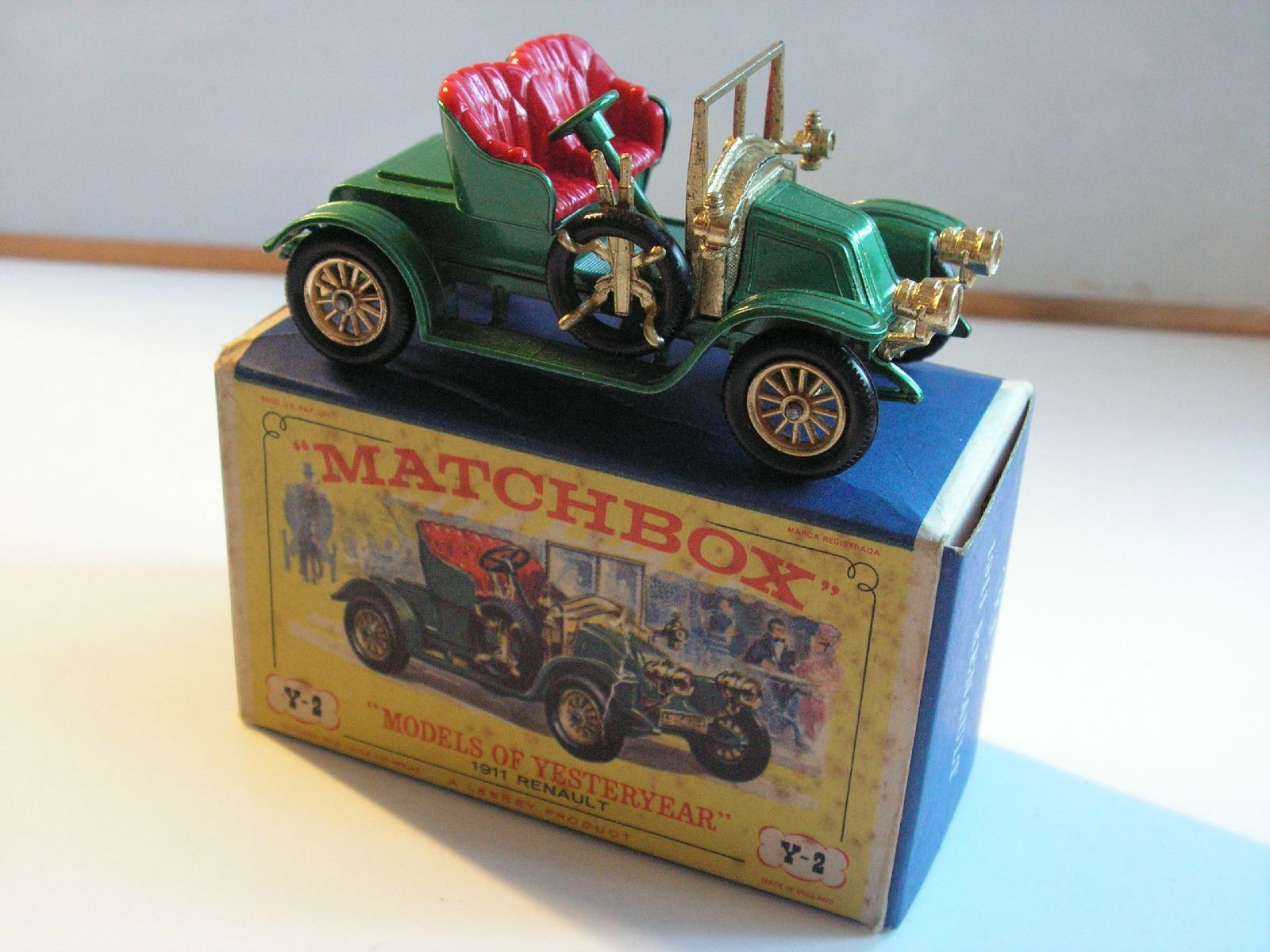 Matchbox y 2 renault 1911 mib new box