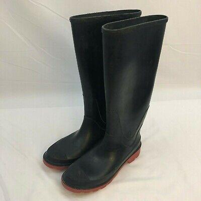 sale retailer 8b467 e596b BRAHMA Men's 7 Steel Shank Rubber Boots 16 inches tall EUC Black w Red  Soles USA | eBay