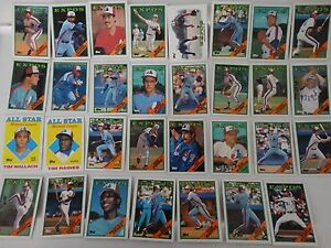 1988-Topps-Montreal-Expos-Team-Set-of-31-Baseball-Cards