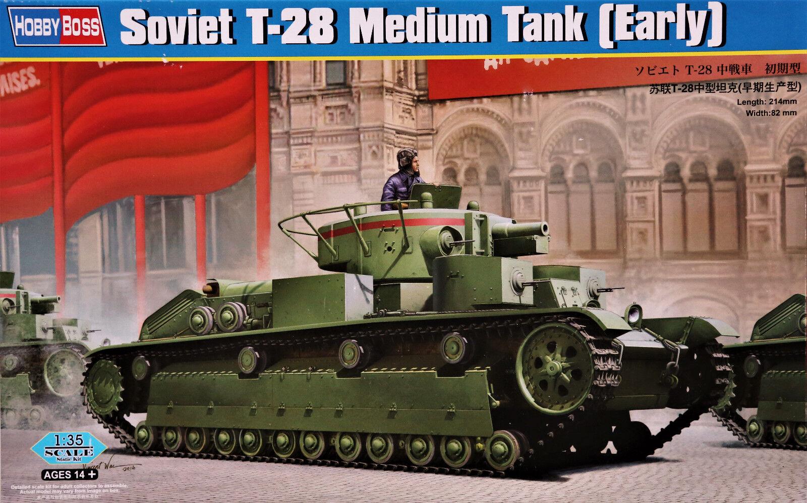HobbyBoss HB83851  Soviet T-28 Medium Tank Tank Tank (Early)  in 1 35  | Überlegene Qualität  1a8887