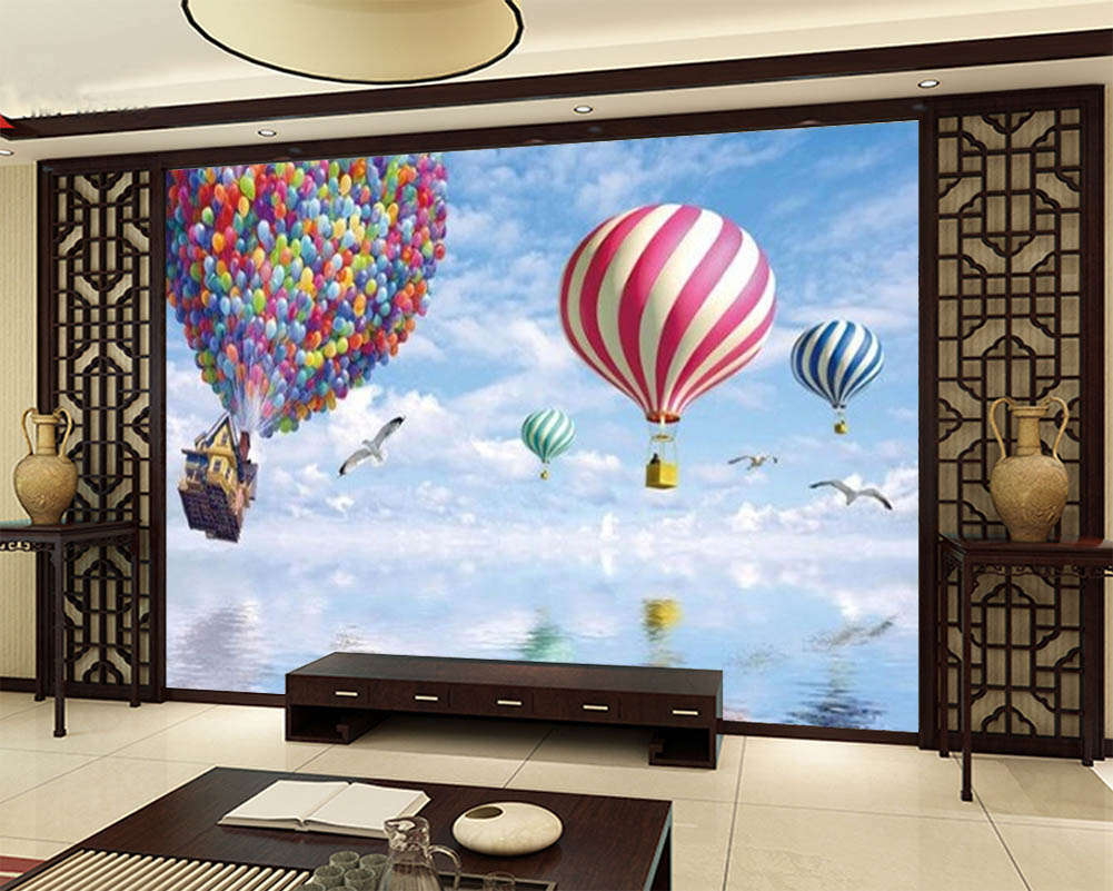 The Hot Air Balloon 3D Full Wall Mural Photo Wallpaper Printing Home Kids Decor