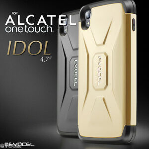 best website 2af96 7640b Details about Alcatel OneTouch Idol 3 (4.7) Case, Evocel Dual Layer Hybrid  Protector