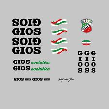 "Gios ""Evolution"" Bicycle Frame Stickers, Decals, Transfers - Black  0040"