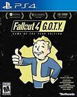 Fallout 4 - Game of the Year Edition (PlayStation 4, 2017)