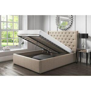 Terrific Details About 6Ft Super King Size Linen Fabric Ottoman Bed Frame Lift Up Bed Grey Slate Inzonedesignstudio Interior Chair Design Inzonedesignstudiocom