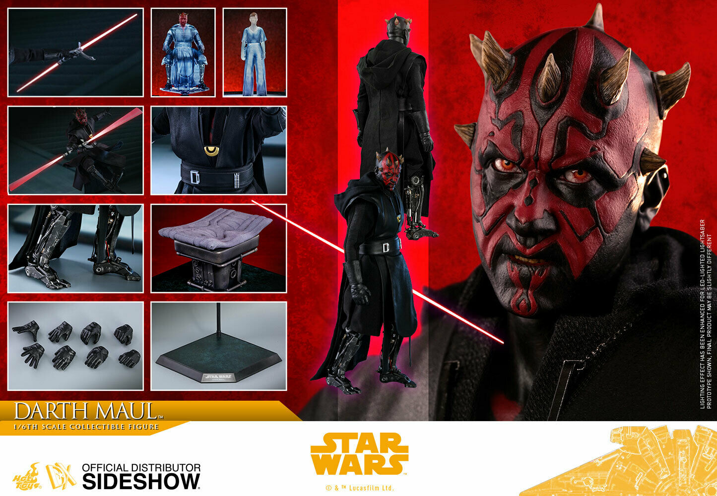 """NEW HOT TOYS 12"""" STAR WARS SOLO ASWS DARTH MAUL DELUXE SERIES 1/6 SCALE FIG DX18 on eBay thumbnail"""