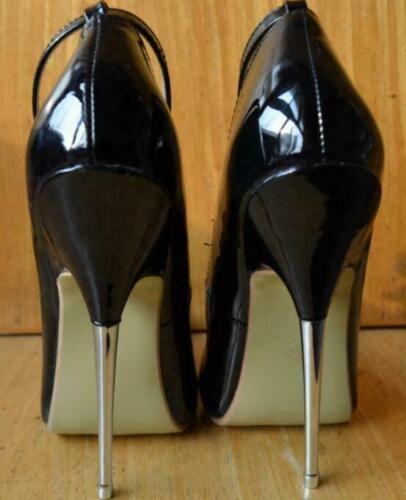 16cm Womens Stilettos Pumps Buckle Pointed Toe Super High Heel Nightclub Shoes