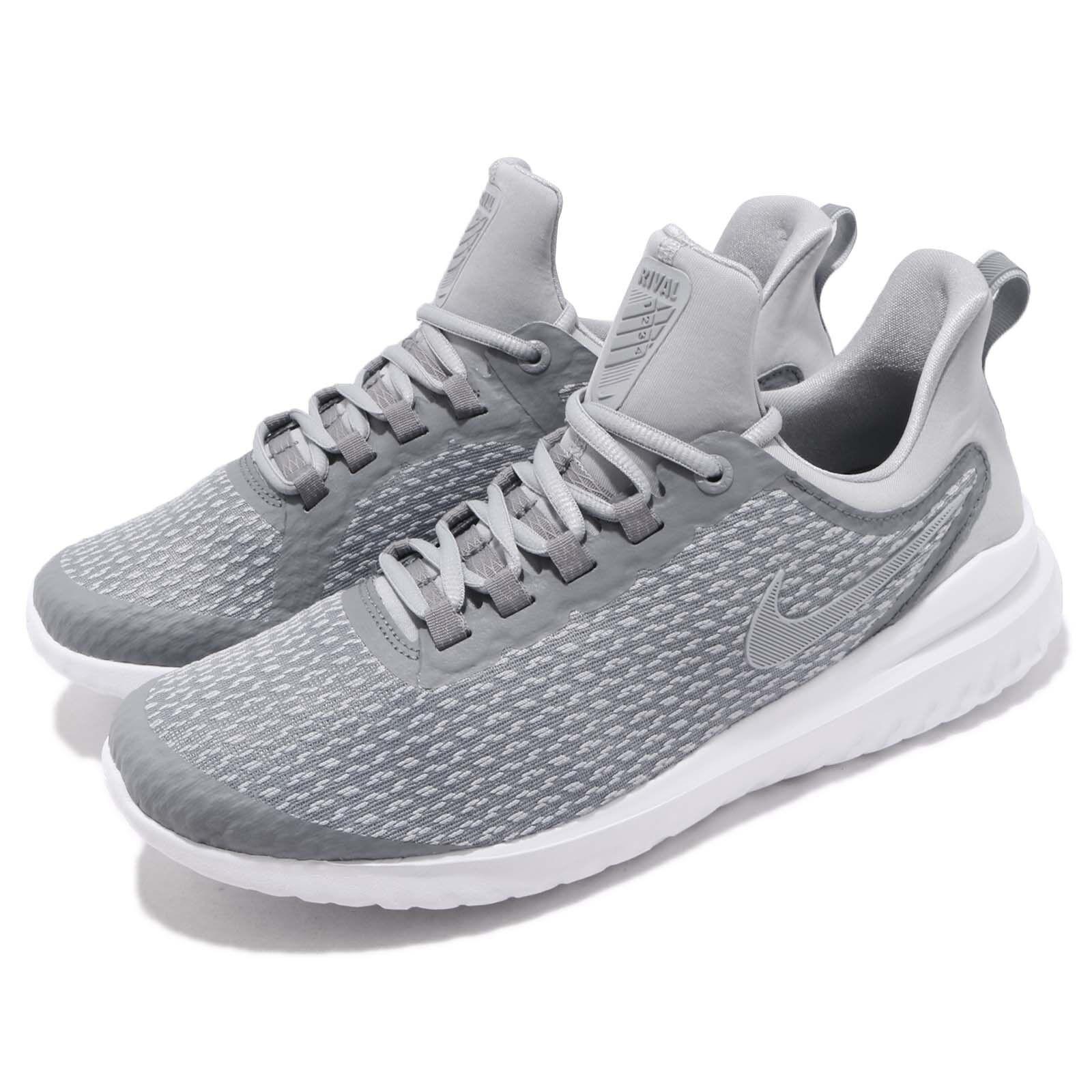 Nike renovar rival Sigilo Gris Blanco Hombres Zapatos Zapatos Hombres Tenis Informales Correr AA7400-006 97e35c