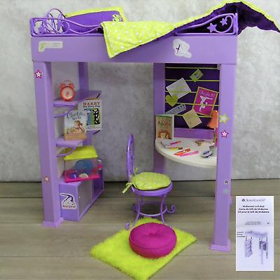 American Girl Doll Mckenna S Loft Bed Desk Chair Accessories