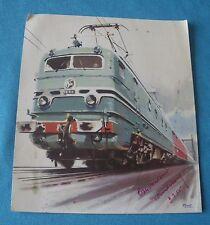 Photo A. Brenet locomotive cc 7121 sncf Dépliant réseau train électrique