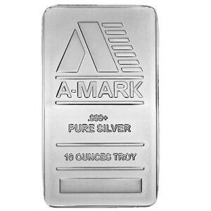 10 Oz A Mark Silver Bar New Ebay