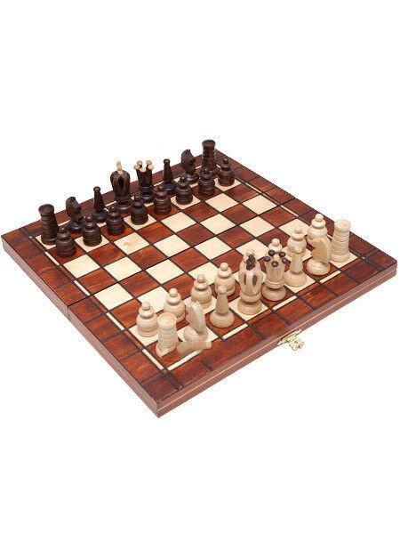 Schackbräde träen rysk, handkarvade, resepaket, mini- Royal