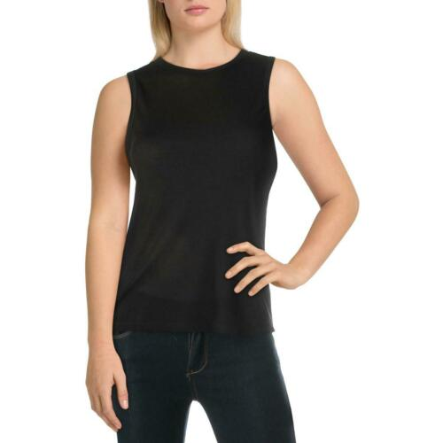 Free People Womens Black Knit Crew Neck Tee Tank Top Shirt XS BHFO 0431