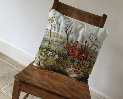 Horse /& Hound Hunt Cushion Covers Pillow Cases Home Decor or Inner