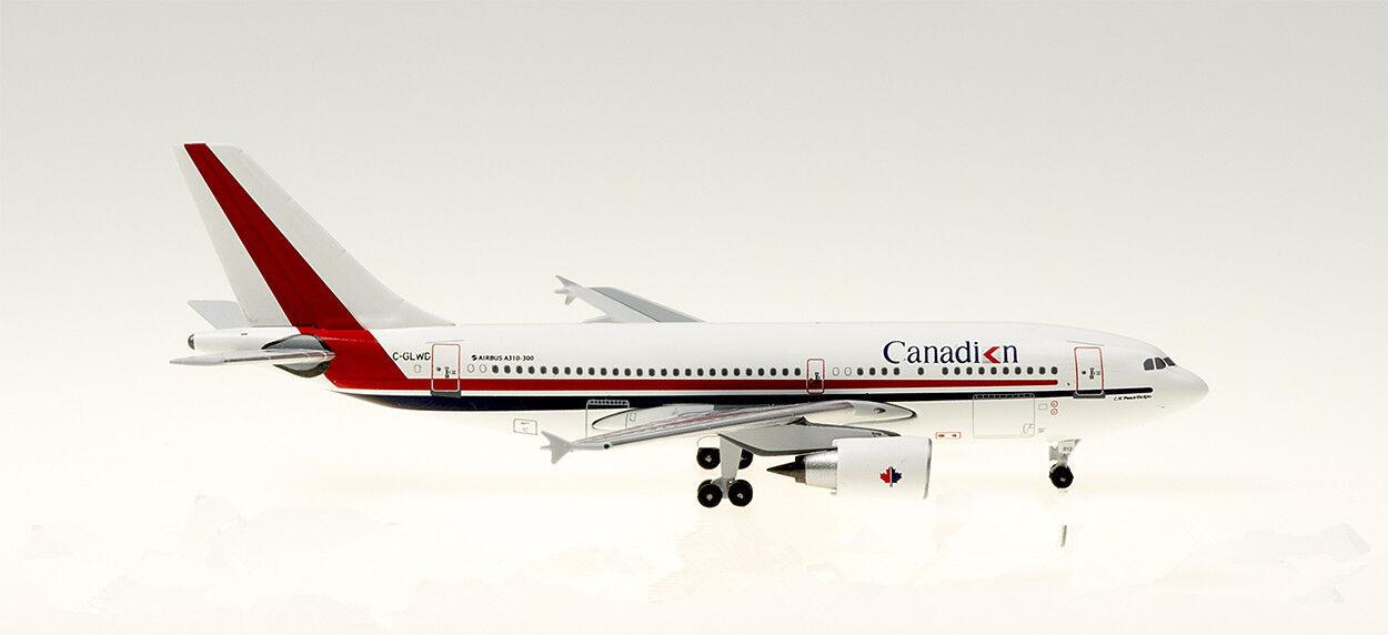1 400 Aeroklassics CANTADIAN AIRbuss A310 -300 tärningskastmodelllllerlerl för passagerarflygagagplan