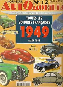 Automobilia Hs 12 Toutes Les Voitures Francaises 1949 (salon 1948)