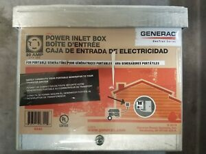 Details about Generac 6342 20-Amp 125/250V Raintight Aluminum Power Inlet  Box