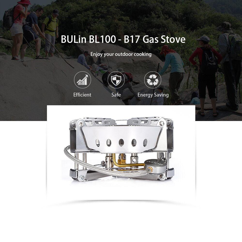 BULin BL100 - B17 Foldable 6800W Windproof Outdoor BBQ Camping Split Gas Stove