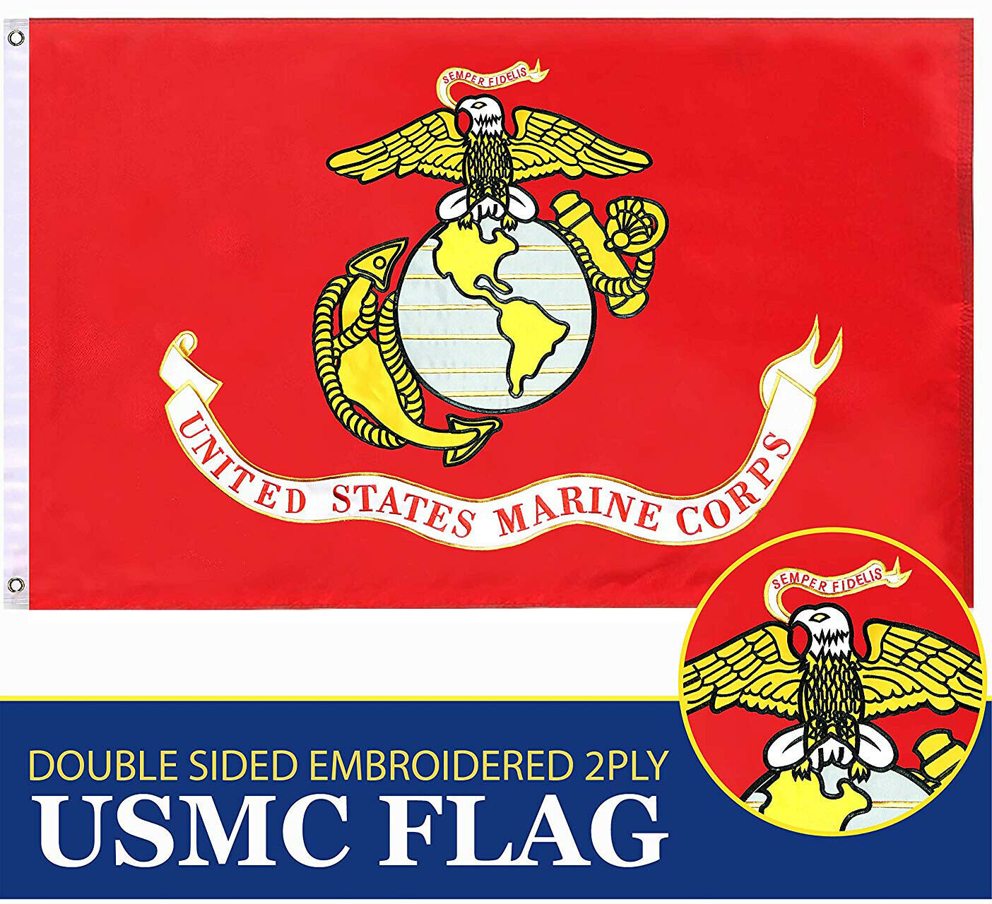 US Air Force Flag3x5 ftDOUBLE SIDED Embroidered G128