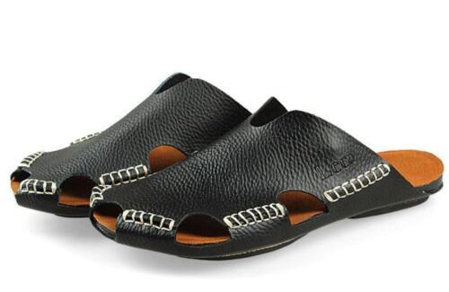 Fashion Homme Plage Casual en cuir véritable diapositives Sport Sandale D/'été Slipper Chaussures