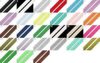 Elastisches Einfaßband Schrägband 20mm breit Textilband 2 Rolle Falzgummi