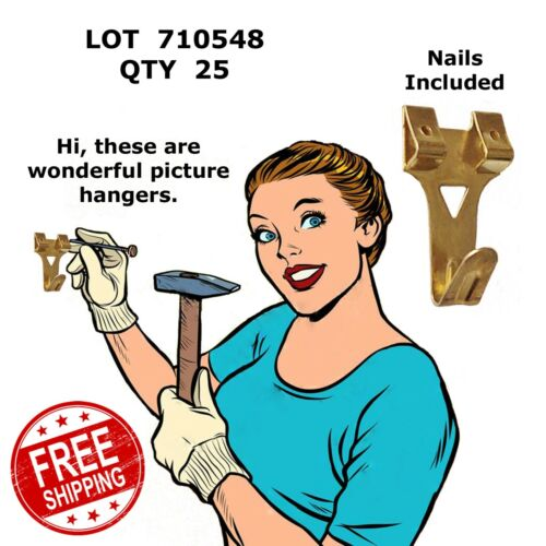 Picture Hangers 40# with Nails Supra B3740 Hillman 122194 Brass Plt 710548 25
