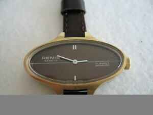 NOS-NEW-VINTAGE-ST-STEEL-RENIS-GENEVE-SWISS-WATCH-1960