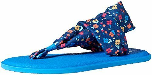 Pick SZ//Color. Sanuk Kids Girls Yoga Sling Burst Floral Flip-Flop 13//01 M