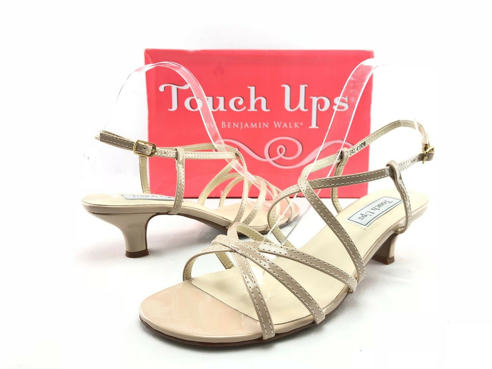 NEW Touch Touch Touch Ups Eileen Women's Nude Strappy Sandals Heels shoes US 8.5 M C115 862d7c