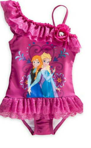 Swim Suit Swimming Costume purple blue Disney Girls Elsa Anna Frozen