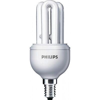 PHILIPS 11w GENIE E 14 WARM WHITE CFL ENERGY SAVER LAMP SET OF 2 pcs