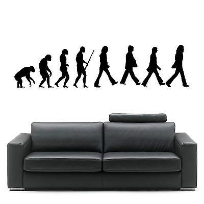 EVOLUTION OF MAN THE BEATLES wall art room sticker vinyl music decal