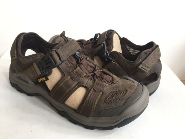 694925f7a0f3 Teva Omnium 2 Turkish Coffee Leather Water Shoes Sandals Closed Toe 1019179  Sz12