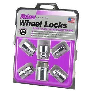 McGard-24554-5Lock-Wheel-Lk-Set-M12X1-25-Nut-Cone-Seat-13-16-Hex-1-28-034-Oal-Chrome