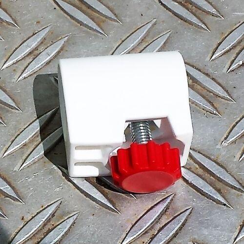 Bistrotisch Gartentisch Stehtisch Ersatzteile Scharnier weiß Klemme Halter Fuß