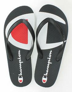 Champion-Life-Men-Flip-Flops-Split-C-Logo-Black-White-Authentic-Sandals-2-Color