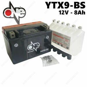 BATTERIA-ONE-8AH-YUASA-YTX9-BS-POLARIS-OUTLAW-525CC-2007-2010-CON-ACIDO
