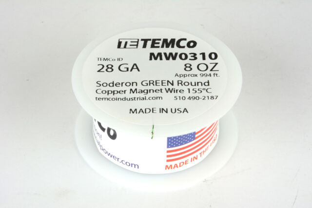 Magnet Wire 28 AWG Gauge Enameled Copper 4oz 155C 497 ft Coil Winding