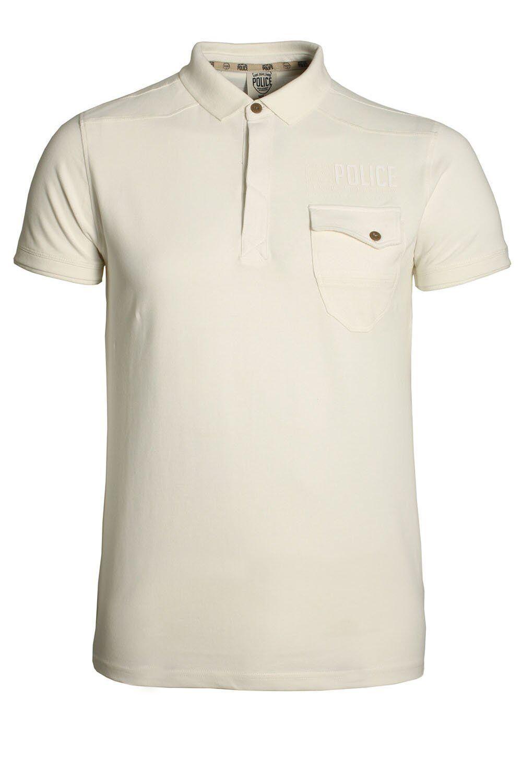 Mens Polo Shirt 883 Police Caradoc White Polo Shirt Mens Police 883 Polo Shirts