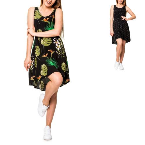 Only Femmes Robe d/'été Skater robe loisirs robe à bretelles Print robe casual