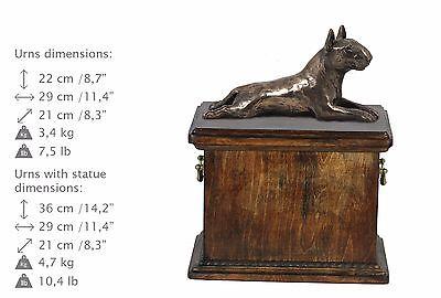 100% Wahr Bull Terrier Lying, Urn, Kalte Bronze, Artdog, De, Type 1 Senility VerzöGern