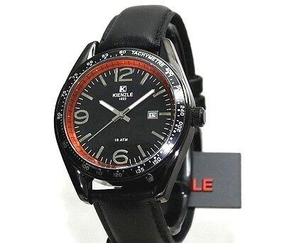 KIENZLE Uhr Schwarzes Armband 10BarW.R.