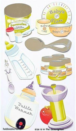 Baby Essen Sticko Silber Geprägt Sticker Dinner Formel Flasche Babys