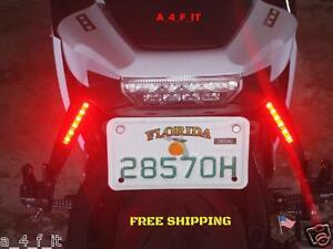 Brake light strips pair of red led strip blinker indicator third image is loading brake light strips pair of red led strip aloadofball Images