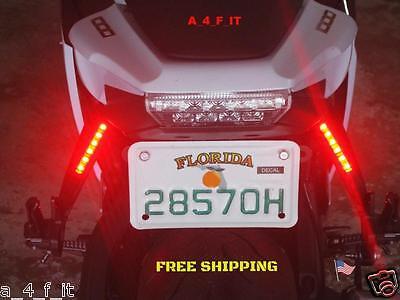 HARLEY BAGGER MOTORCYCLE CUSTOM LED BRAKE RUNNING TURN SIGNAL TAIL LIGHT t