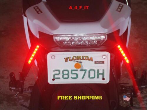 SUZUKI GSX-R LED LIGHT BAR RED LENS BRAKE//TURN SIGNAL LIGHTS FUNCTION