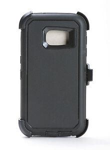 Samsung-Galaxy-S7-Defender-Shockproof-Hard-Shell-Case-w-Holster-Belt-Clip-Black